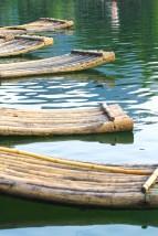 Dettaglio delle vere zattere di bambù