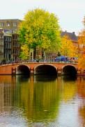 Canali Amsterdam e Foliage