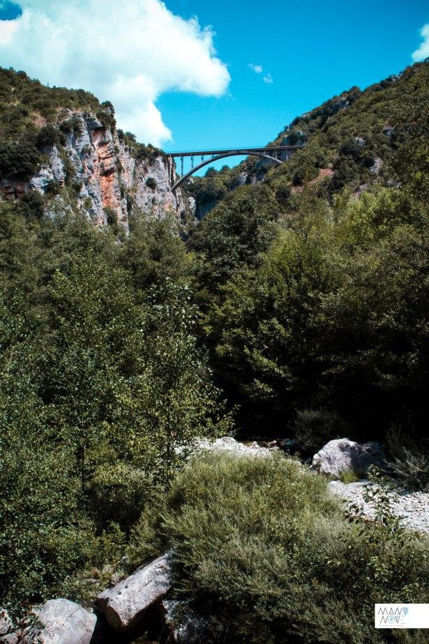 Ponte di Sacco visto dal sentiero
