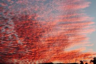 Il tramonto sulla via del ritorno